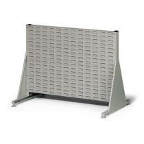 Jednostranný PERFO regál, výška 78 cm, šedý