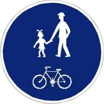 Dopravní značka Stezka pro chodce a cyklisty (C9a)