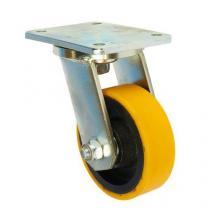Polyuretanové transportní kolo s přírubou, průměr 125 mm, otočné, valivé ložisko