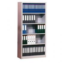 Kovový regál Boreas, základní, 195 x 92,5 x 42,2 cm, 4 police, světle šedý