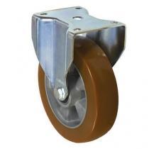 Polyuretanové transportní kolo s přírubou, průměr 200 mm, valivé ložisko