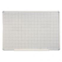 Magnetická tabule Magnetic s rastrem, 120 x 90 cm