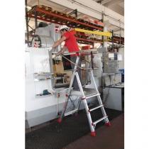 Teleskopický hliníkový plošinový žebřík, 3 stupně