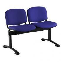 Koženková lavice Ida, dvumístná, modrá