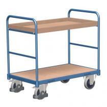 Policový vozík, do 250 kg, 2 police s vyvýšenou hranou, 98,6 x 91 x 50 cm
