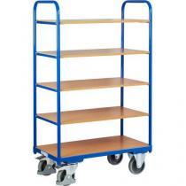 Vysoký policový vozík do 250 kg, 5 polic, 91 x 50 x 153 cm