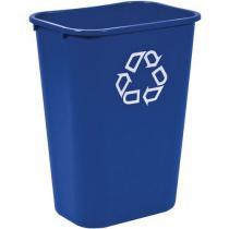 Plastový odpadkový koš Rubbermaid Soft, modrý, objem 27 l