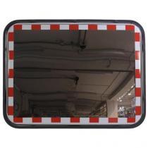 Dopravní obdélníkové zrcadlo, nerez, 600 x 800 mm