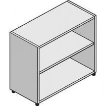 Střední široká skříň System, 86 x 86 x 45 cm, otevřená