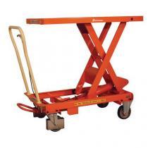 Mobilní hydraulický zvedací stůl Bishamon, do 500 kg, deska 101 x 51,8 cm