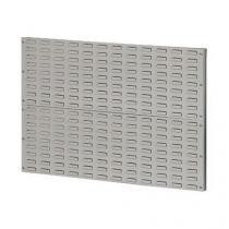 Nástěnný PERFO regál, rozměry 69,5 x 100 cm, šedý
