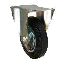 Gumové transportní kolo s přírubou, průměr 160 mm, valivé ložisko