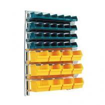 Nástěnný regál s boxy Unibox (36 ks)