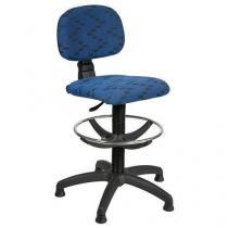 Pracovní židle Lucas s kluzáky, modrá