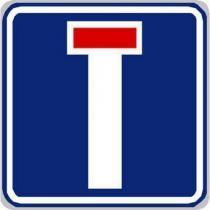 Dopravní značka Slepá pozemní komunikace (IP10a)
