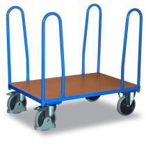 Plošinový vozík se čtyřmi rohovými podpěrami, do 500 kg, 102,1 x 126 x 80 cm