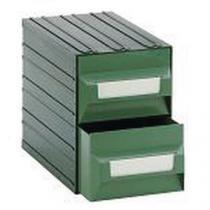 Modulový organizér PS, 2 zásuvky, černý/zelený