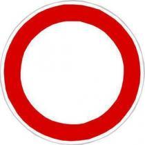Dopravní značka Zákaz vjezdu všech vozidel (v obou směrech) (B1)