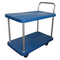 Policový vozík s madlem, do 150 kg, 2 police