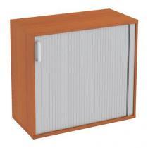 Nízká široká skříň Abonent, 75 x 80 x 40 cm, s roletou - pravé provedení, dezén třešeň Oxford