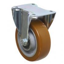 Polyuretanové transportní kolo s přírubou, průměr 125 mm, valivé ložisko