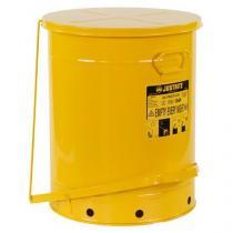 Kovový odpadkový koš pro hořlavé a nebezpečné látky, objem 79 l, žlutý