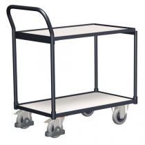 Antistatický policový vozík s madlem, do 250 kg, 2 police, 98 x 112,5 x 62,4 cm