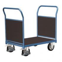 Plošinový vozík se dvěma madly s plnou výplní, do 1 000 kg, 100,6 x 179,7 x 80 cm