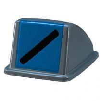Víko na odpadkové koše Manutan 60 a 80 l, tmavě modré