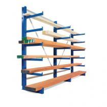 Jednostranný konzolový regál, základní 200 x 675 x 63 cm, 7 200 kg, 30 konzolí