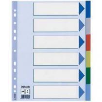 Plastové rozdružovače Esselte Duo, 10 ks, 6 oddílů