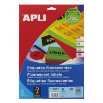 Univerzální samolepicí etikety Apli, 64 x 33,9 mm, oranžové