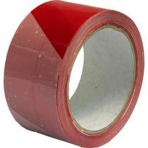 Výstražná lepicí páska, šířka 50 mm, bílá/červená