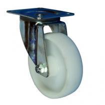 Polypropylenové transportní kolo s přírubou, průměr 150 mm, otočné, kluzné ložisko