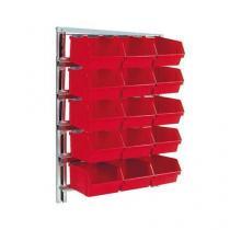 Nástěnný regál s boxy Unibox (15 ks)