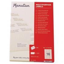 Samolepící etikety Manutan, 10,5 x 3,7 cm