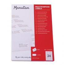Samolepící etikety Manutan, 7 x 3,7 cm
