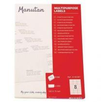 Samolepící etikety Manutan, 10,5 x 7 cm