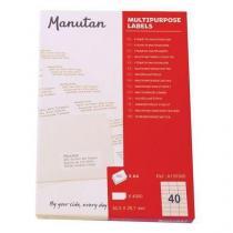 Samolepící etikety Manutan, 5,25 x 2,9 cm