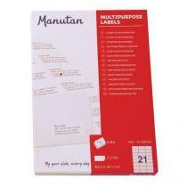 Samolepící etikety Manutan, 6,35 x 3,8 cm