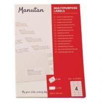Samolepící etikety Manutan, 14,8 x 10,5 cm