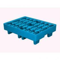 Plastová záchytná vana, kapacita 17 l, modrá