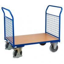 Plošinový vozík se dvěma madly s mřížovou výplní, do 500 kg, 100,6 x 119 x 70 cm