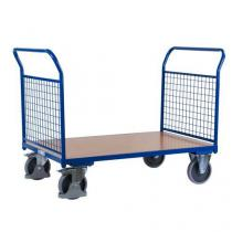 Plošinový vozík se dvěma madly s mřížovou výplní, do 500 kg, 100,6 x 139 x 80 cm