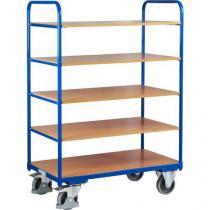 Vysoký policový vozík do 250 kg, 5 polic, 106 x 60 x 153 cm