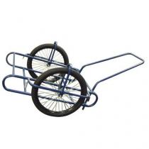 Dvoukolový vozík s dušovými koly 600 mm, bez koše, do 240 kg