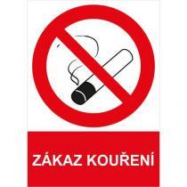 Zákazová bezpečnostní tabulka - Zákaz kouření, 297 x 210 mm, samolepicí fólie