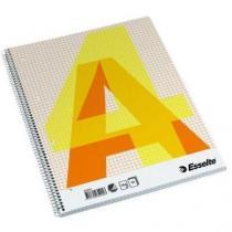 Blok s boční spirálou, A4, čtverečkovaný, 5 ks