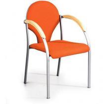 Konferenční židle Neo Silver, oranžová