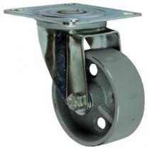Litinové transportní kolo s přírubou, průměr 80 mm, otočné, kluzné ložisko, teplotně odolné